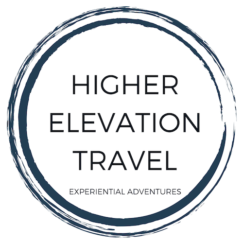 Higher elevation travel circle logo