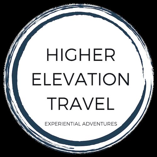Higher elevation travel circle logo